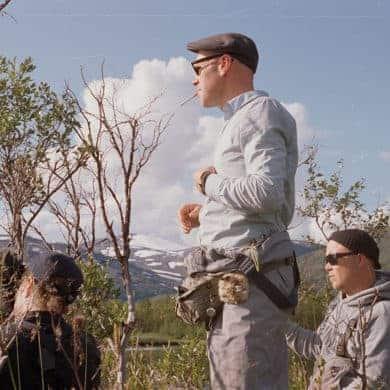 Nylinder, Stubø og Lemke på ekspedisjon. // Foto: Kristian Matsson