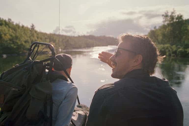 Rolf Nylinder og Håvard Stubø i Finland. // Foto: Kristian Matsson