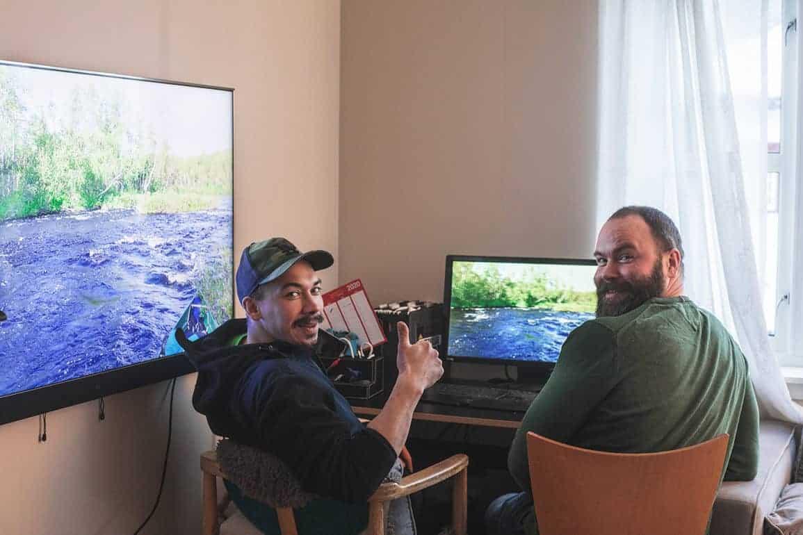 Heaika Somby og Erik Somby Iversen. // Foto: Joakim Andreassen